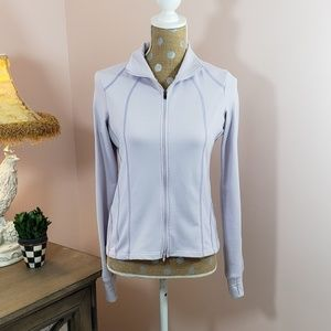 Athleta lavender zip up jacket w/ thumb holes XS
